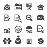 Tax icon set Stock Photo