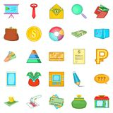 Tax icons set, cartoon style. Tax icons set. Cartoon set of 25 tax icons for web isolated on white background Stock Image