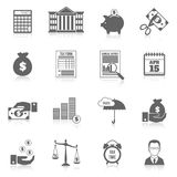 Tax icons set Royalty Free Stock Photo