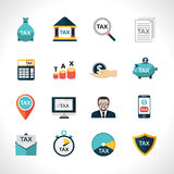 Tax Icons Set Stock Photo