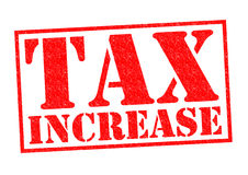 TAX INCREASE. Red Rubber Stamp over a white background Stock Image