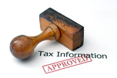 Tax information - approved Stock Image