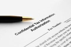 Tax information authorization Stock Image