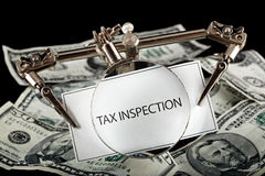 Tax inspection Royalty Free Stock Photo