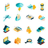 Tax Isometric Icons Set Royalty Free Stock Photos