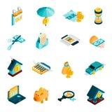 Tax Isometric Icons Set Royalty Free Stock Photos