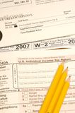 Tax items Stock Photo