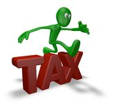 Tax jump Stock Photography