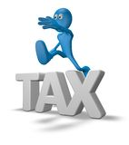 Tax jump Royalty Free Stock Images