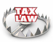 Tax Law 3d Red Words Bear Trap Legal Rules Regulations Royalty Free Stock Photography