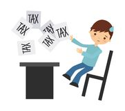 Tax liability design. Vector illustration eps10 graphic Royalty Free Stock Photos