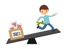 Tax liability design Stock Photos