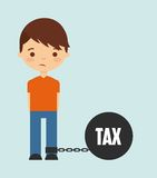 Tax liability design Stock Images