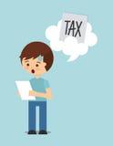 Tax liability design Royalty Free Stock Photo