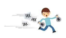 Tax liability design Royalty Free Stock Image