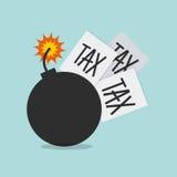 Tax liability design Stock Photo