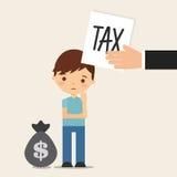 Tax liability design Stock Image