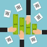 Tax liability design Royalty Free Stock Images
