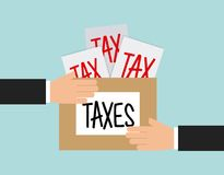 Tax liability design Royalty Free Stock Photography