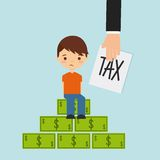Tax liability design. Vector illustration eps10 graphic Stock Photo