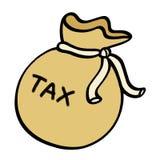 Tax money sack illustration. On white background Stock Photos