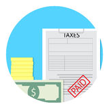 Tax paid icon Royalty Free Stock Image