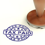 Tax Paid Stamp Showing Excise Or Duty Paid Royalty Free Stock Photo