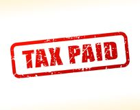 Tax paid text buffered Royalty Free Stock Photography
