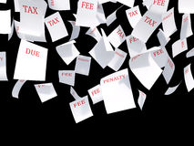 Tax papers Stock Images