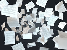 Tax papers falling Royalty Free Stock Photo