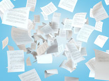 Tax papers falling Royalty Free Stock Images