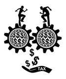 Tax Payer. Couple with double income and corresponding high tax burden Stock Photos