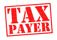 TAX PAYER. Red Rubber Stamp over a white background Stock Image