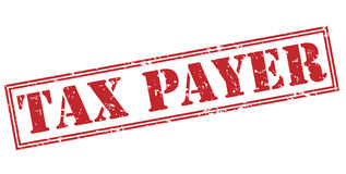 Tax payer red stamp Stock Photos
