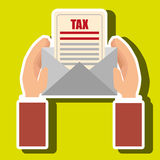 Tax payment budget return. Illustration eps 10 Royalty Free Stock Image