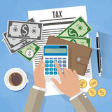 Tax payment design Stock Photos