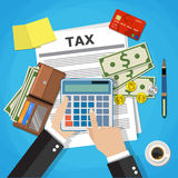 Tax payment design Stock Image