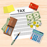 Tax payment design. Stock Images