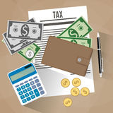 Tax payment design Royalty Free Stock Photography