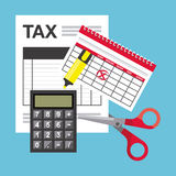 Tax payment Stock Image