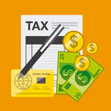 Tax payment Royalty Free Stock Image