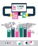 Tax payment online info graphic. Royalty Free Stock Photos
