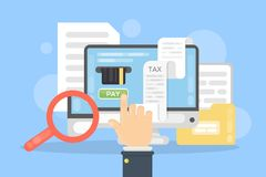 Tax payment online. Stock Image