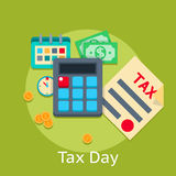 Tax payment vector flat business finance concept Royalty Free Stock Images