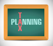 Tax planning board sign illustration Royalty Free Stock Photo