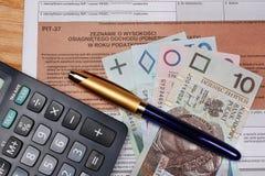 Tax polish individual Royalty Free Stock Images