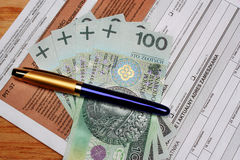 Tax polish individual Stock Image