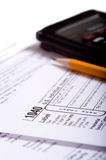Tax Preparation Royalty Free Stock Photos