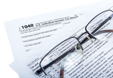 Tax preparation Stock Image