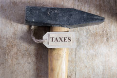 Tax problems, taxes. Royalty Free Stock Photography